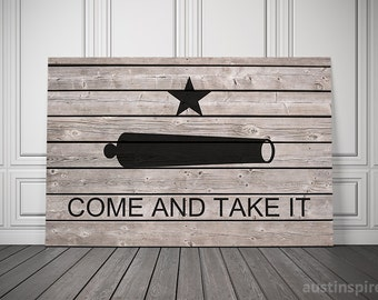 Come And Take It Canvas Flag