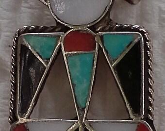 Vintage  Zuni kachina thunderbird pendant