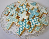 Cross cookies for Baptism...
