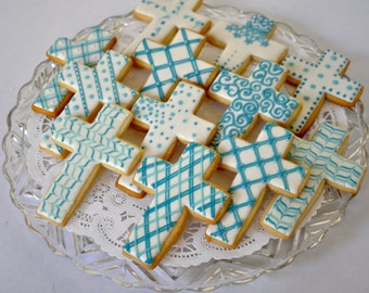 Cross cookies for Baptism, First Communion and all Holy occasions