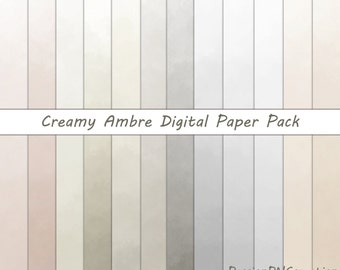 """Creamy Ambre, Digital Paper Pack, Background, Digital Papers, Digital Background, 12""""x12"""" printable, JPG, Personal and Commercial Use"""