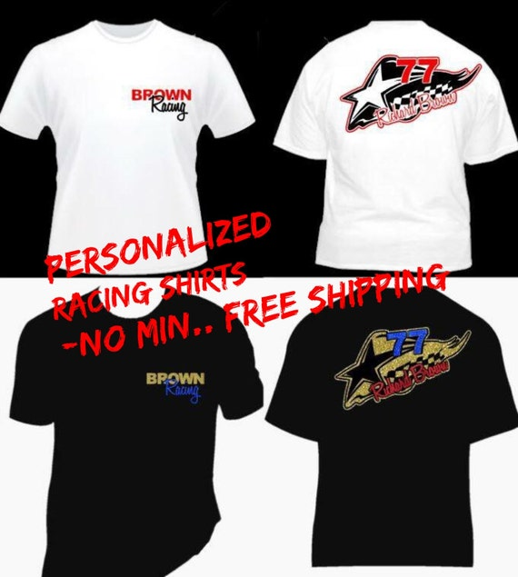 Items Similar To Personalized Racing Shirts Design Your