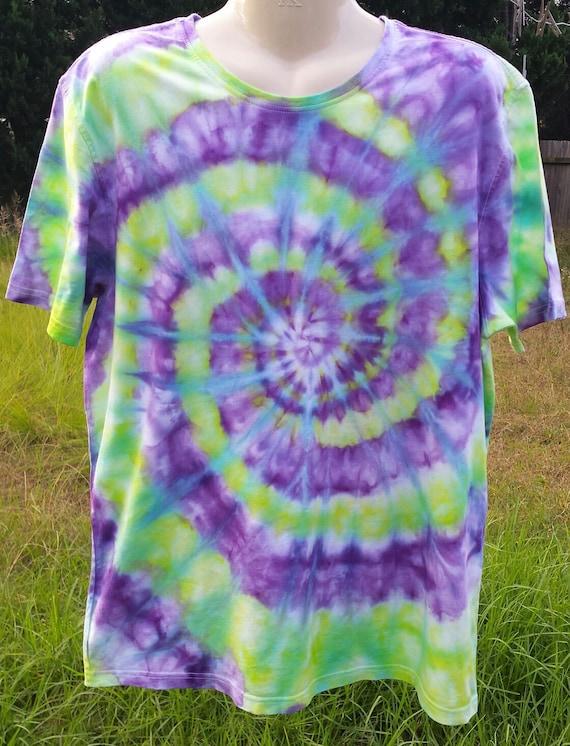 Mens tie dye hippie t shirt x large for Hippie t shirts australia