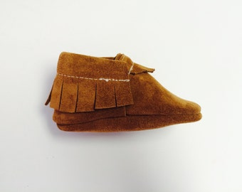 Tan Suede Moccasins