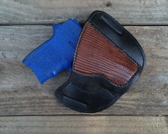 Brown Lizard Holster for the Smith and Wesson Bodyguard by TIN BADGE LEATHER