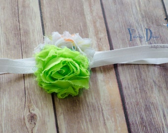 FOE Shabby Flower Headband/ Hair Clip