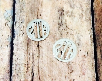 Zeta Tau Alpha Monogram Style Stud Earrings | Zeta Tau Alpha Earrings | Zeta Earrings | Sorority Earrings | Monogram Earrings | ZTA