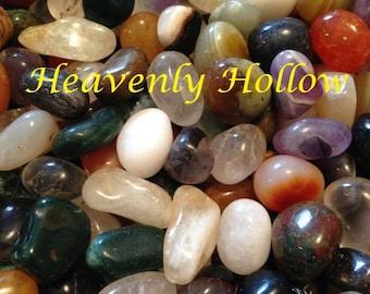 Small Tumbled Stones Assorted 1/4 lb + mix bag ,Reiki Stones,Medicine Bag,Crystal Mineral Gemstones ,Polished Stones, Chakra, 40% off Retail