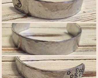 Hand stamped jewelry - Hand Stamped cuff bracelet - Custom bracelet - Personalized hand stamped jewelry - Textured cuff bracelet - Gift idea