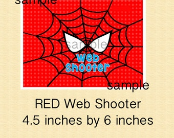 RED Spiderman Birthday Web Shooter Label for Silly String, Red Spiderman Party-YOU PRINT