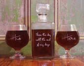 Personalized Whiskey Decanter Set Game of Thrones Inspired Wedding Vows