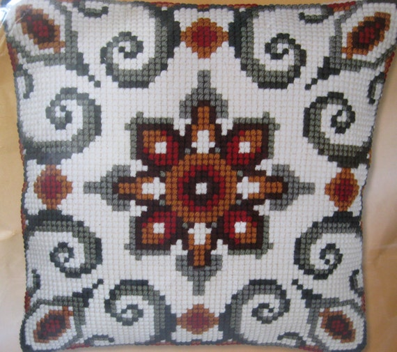 Modern Cross Stitch Pillow Kits : Needlepoint Pillow Kit Vervaco Kit Cross Stitch Kit Modern
