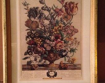 French Picture,Floral Arrangement, April, Writing Scripts