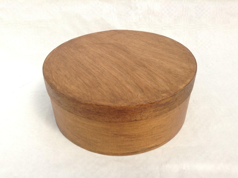 vintage round wooden box 18 cm