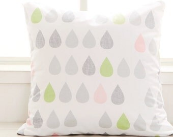 Cotton Fabric Raindrops Pastel Green By The Yard