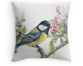 Pillow 40 x 40 cm - Bird in Spring - incl. filling pillow