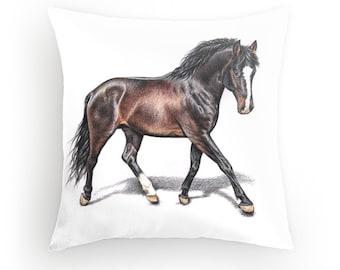 Horse Pillow 40 x 40 cm - Horse, incl. filling