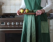 Womens retro style apron/Full Kitchen apron/Granny style pinafore apron/Housewarming/Hostess gift/Foodie gift