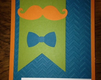 Mustache Birthday Invitation