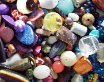 GRAB BAG- New  Assorted mix of Beads, Findings ..etc.. 1  pound- All quality items