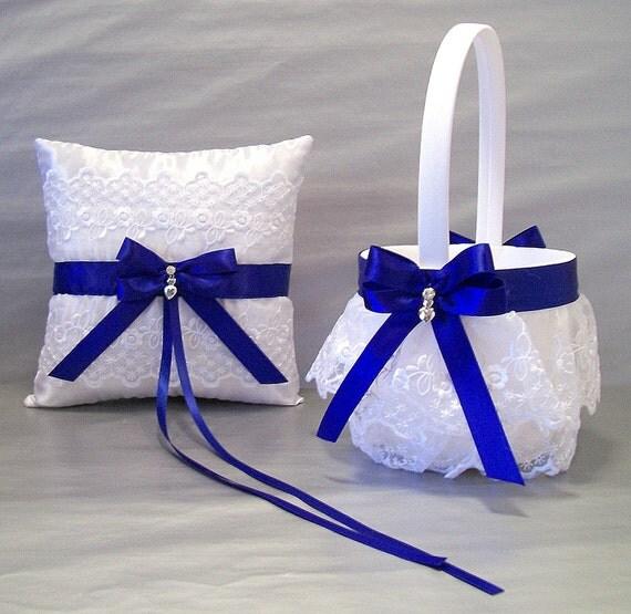 Flower Girl Baskets For Weddings: Cobalt Blue Wedding Bridal Flower Girl Basket And By