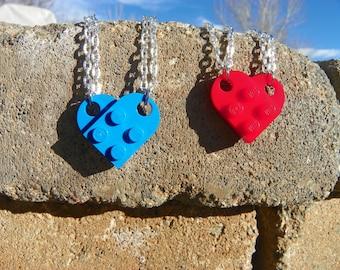 Best Friend Necklaces or Keychains - Valentine's Heart!