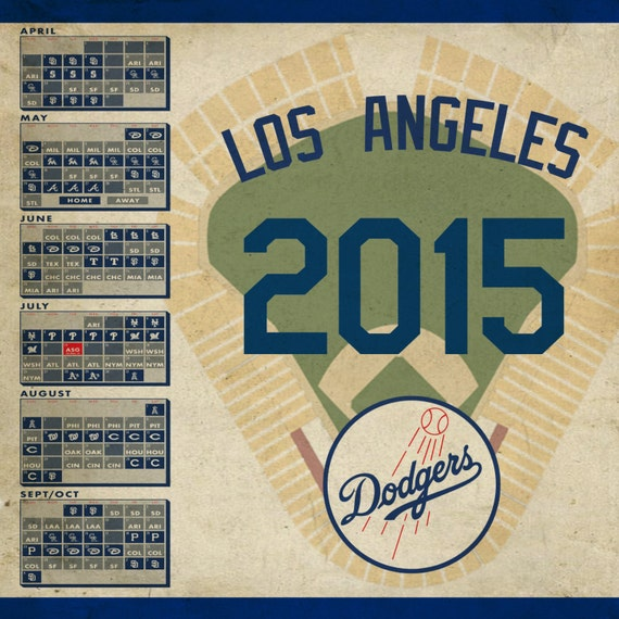 los angeles dodgers  schedule print