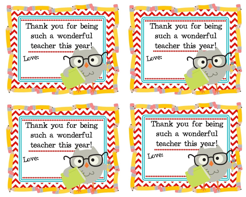 Playful image inside thank you teacher free printable
