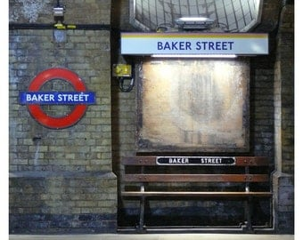 Baker Street. Original Color Photography for wall decor. The tube. London 18 x 20 cm