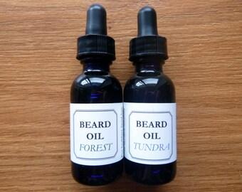 All Natural Beard Oil // Healing Beard Tonic in 1 Ounce Bottle with Dropper
