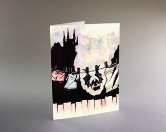 Drip Dry Bat - Halloween card