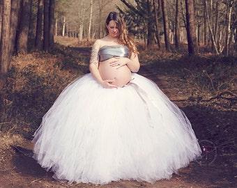 Extra Full Evelyn Tutu Adult Full-Length Romantic Long Tutu Ballroom Tulle Skirt Weddings Maternity Photo Prop Dress-Up Special Occasion