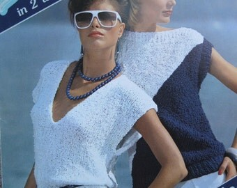 Knit Pattern Book Breeze Knits #865 by Brunswick 4 Projects to create Size Small, Medium, Large, XLarge Vintage 1980's
