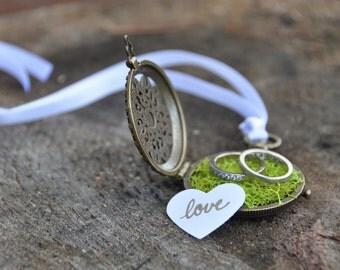 Custom engagement ring box wedding ring box ring bearer box wooden ring box locket jewelry box proposal ring box rustic wedding proposal box