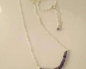 Amethyst gem stone swing necklace