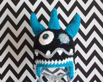 Monster hat black and blue – Monster Hat Black and blue