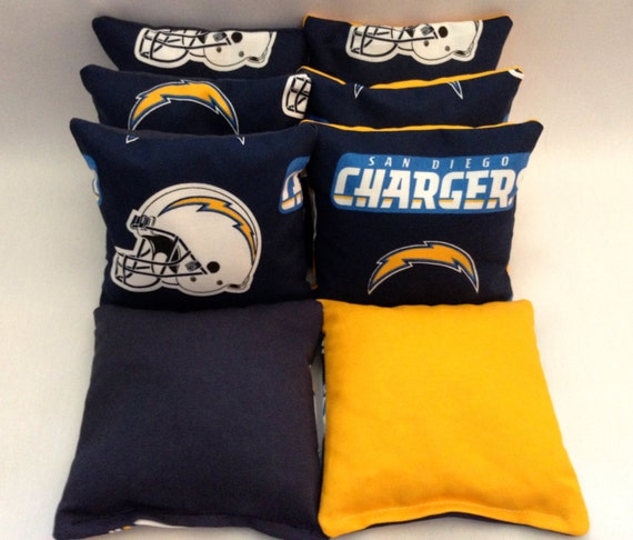 San Diego Chargers Backpack: SAN DIEGO CHARGERS 8 Cornhole Bags Bean Toss Print Fronts