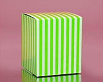 SALE! Green Striped Boxes - 6 Quantity