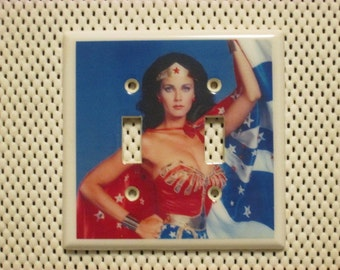 Wonder Woman Double Decorative Switch Plate/Light Switch Cover