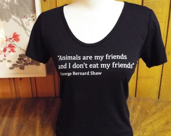 Animals are my friends - Bamboo & Organic Cotton Scoop Neck Tee