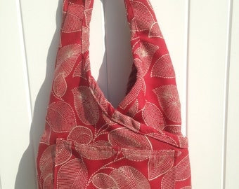 Boho Bag. Criss Cross Shoulder Purse. Sling Bag. Fashionable, Shoulder Bag, High End Designer Fabrics