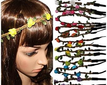 Flower Crown - Boho headband - Flower Headband - Flower Crown Headband - Hippie Flower Headband - Flower Headpiece - music festival