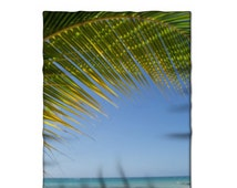 Fleece Blanket, Tropical Photo, Ocean Home Decor, Palm Tree Image, Comfy Throw, Photo Products, Housewarming Gift, Baby Blankie, Lap Blanket