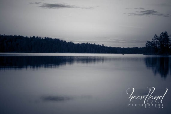 Black and White, Boundary Waters, Little Loon Lake, Lake Photography, Nature Photography, Landscape Print, BWCA Image, Water Photography