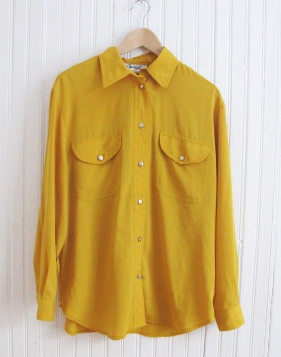 chemise femme jaune moutarde. Black Bedroom Furniture Sets. Home Design Ideas