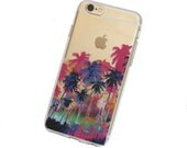 iPhone 6, 6Plus Palm Tree Paradise Case - Your choice of Soft Plastic (TPU) or Wood
