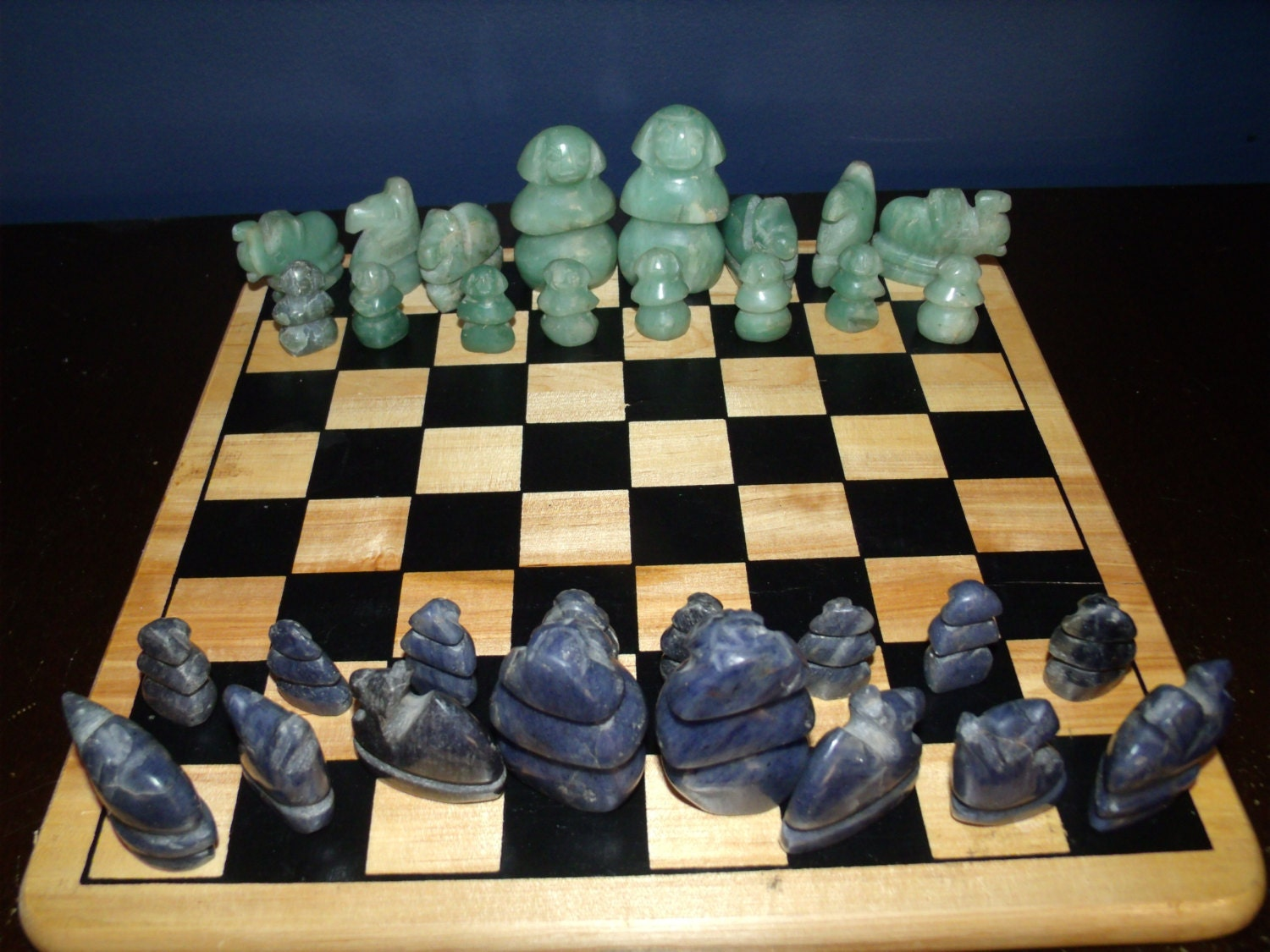 Kitchen dining - Granite chess pieces ...