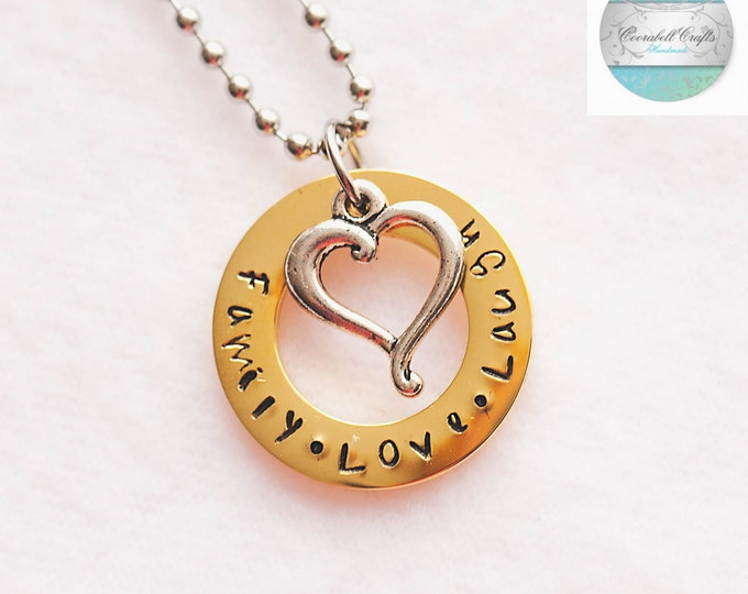 Inspirational pendants luxurious gold and silver names pendant with silver love heart charm necklace add own aloadofball Gallery