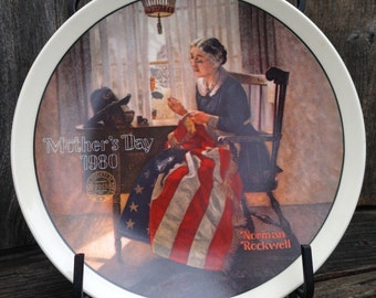 A Mother's Pride  Collector Plate  Issued in 1980 Norman Rockwell