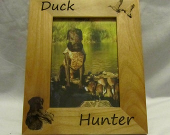 Personalized Wooden Picture Frame- Duck Hunter